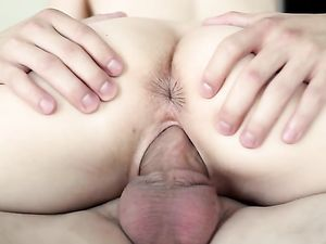 Threesome Teens Make His Big Cock Cum On Their Faces