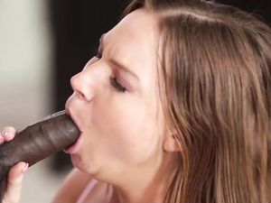 Hot Black Seed Emptied Into Her White Pussy