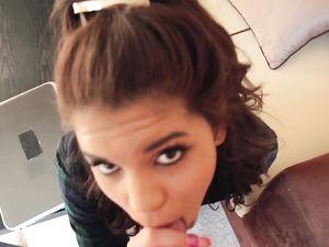 Tiny Latina First Timer Likes Big Dick Inside Her
