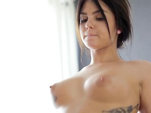 Perky Boobs Teen With Tattoos Has Anal Sex