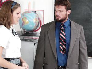 Teen Blows Her Teacher And Fucks For A Good Grade