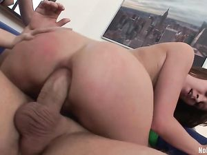 Cuties Take Turns Getting Ass Fucked By His Big Dick