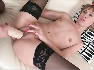 Black Stockings On Sweet Girls Fucking Huge Toys