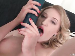 Big Dildos Stretch A Sweet Blonde Teen Pussy