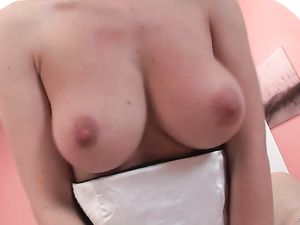 Natural D Cups Girl Does A Double Anal Penetration