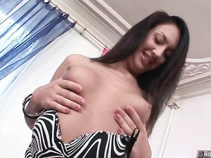 Cute Teen Sits On A Boner With Her Tight Asshole