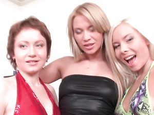 Anal Fisting Threesome With Hot European Lesbians