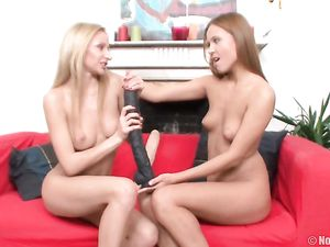Teens And Their Huge Toys Have Lesbian Sex