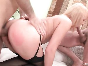 Blonde Anal Teen Bent Over And Taken From Behind