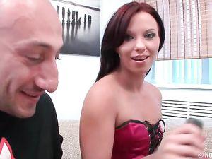 Teenage Beauty Tries A Double Penetration Threesome