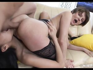 Anal Teens Take A Big Dildo And His Hard Cock