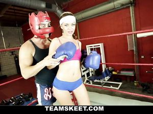 Skinny Boxing Babe Boned In The Ring By Her Trainer