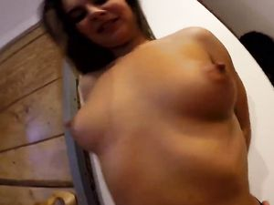 Euro Cutie He Picks Up Is A Wild Dick Riding Slut