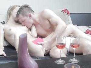 Wine And Lovemaking With A Beautiful Blonde Girl