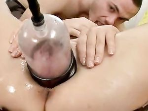 Pumped Up Pussy Lips Fucked From Behind