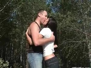 Teen Sex In The Woods Gets Noisy And Naughty