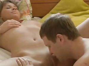 Sexy Big Natural Breasts On His Teen Girlfriend