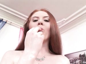 Dirty Redheaded Whore Does A Double Penetration