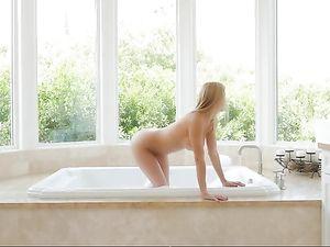 Stunning Pornstar Babe Impaled On His Hard Cock