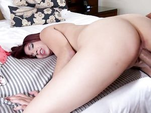 Latina Teen Pussy Filled With His Hot Creampie