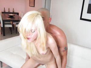 Tall Man And A Tiny Blonde 18 Year Old Fuck