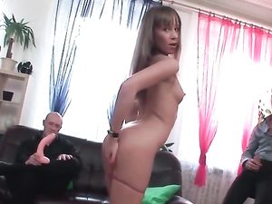 Young Whore In Heels Has Double Penetration Sex
