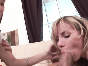 Young Sluts Suck Dick And Balls To Get Him Hard