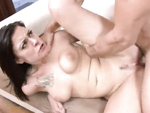 Curvy Ass Girl Groped As She Rides A Cock
