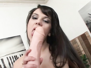 Lonely Cutie Has Big Toys To Fuck Her Pussy