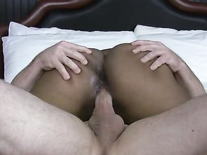 Black Chick Gets A Facial After Riding A White Cock