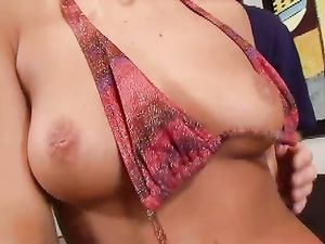 Shaved Pussy Of A Blonde Fucked In Doggy Style