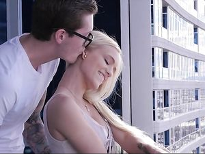 Doggy Style After Sucking With A Blonde Babe
