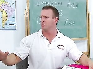 Cheerleader Riding A Big Cock In The Classroom
