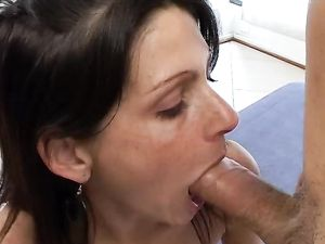Condom Fucking For A Hot Latina Brunette