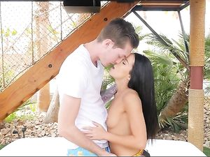 Outdoor Blowjob And Fucking With A Hot Brunette