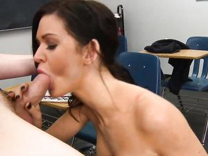 Facial For A Hot Brunette Schoolgirl After Sex